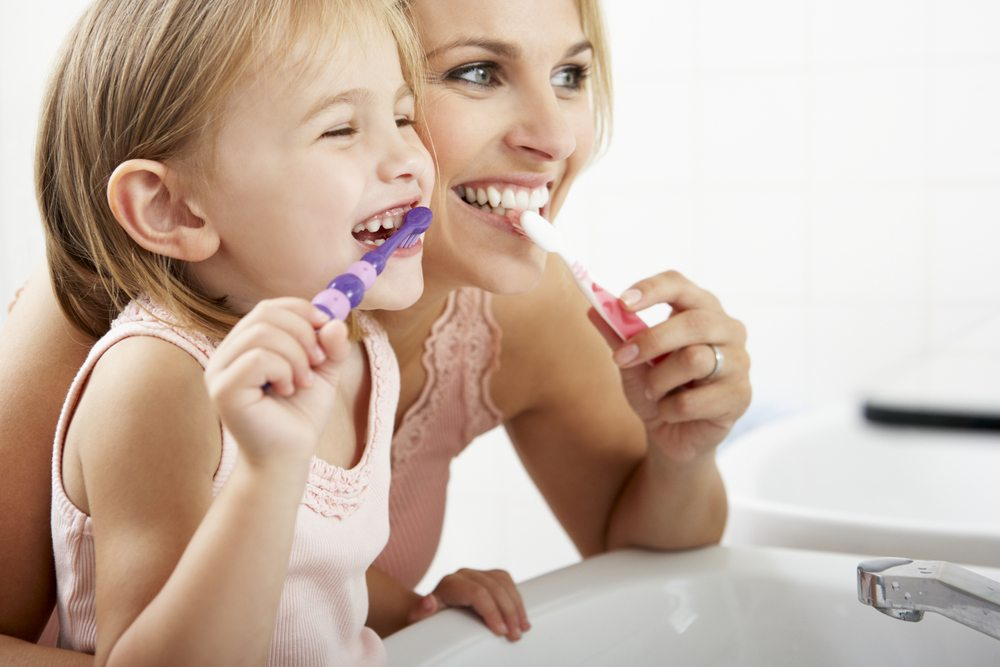 toddlers to brush